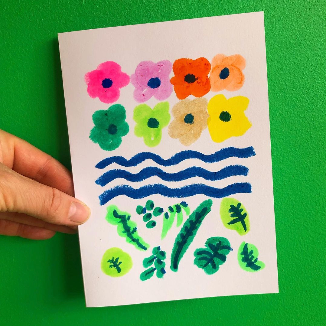 Quick Colourful, Playful, Sensory-Inspired Cards For Friends
